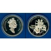 CANADA / KANADA 1 Dollar 1990 Henry Kelsey  SILBER  PP