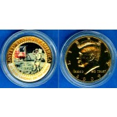 USA Half Dollar 2009 Mondlandung  fast ST  selten