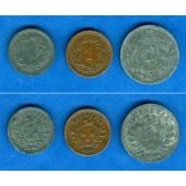 Lot:  SCHWEIZ 3x Münzen  1 + 2 Rappen  ss-vz  [1937-1944]