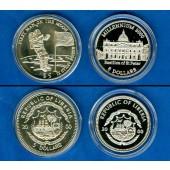 Lot:  LIBERIA 2x Gedenkmünzen 5 Dollars  ST/PP  [2000]