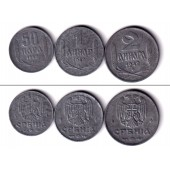 Lot: SERBIEN 3x Kleinmünze 2.WK dt. Besatzung 1942  vz