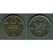 NORWEGEN 5 Öre 1941 f. stgl.