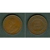 AUSTRALIEN One Half Penny 1917  f.vz/vz