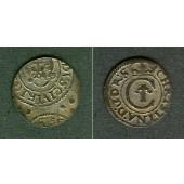 LETTLAND (Schweden) Schilling / Solidus 1635  ss (-stgl.)