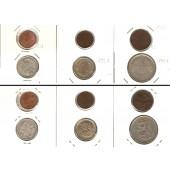 Lot:  FINNLAND  6x Münzen 1 Penni - 1 Markka  [1916-1921]