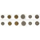 Lot:  LETTLAND 6x Münzen 10 Santimu - 1 Lats  [1922-1992]