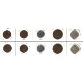 Lot:  NIEDERLANDE  5x Münzen 1 - 5 Cents  [1939-1942]