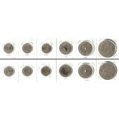 Lot:  NORWEGEN 6x Münzen  25 Öre - 5 Kronen  [1950-1969]