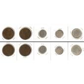 Lot:  SCHWEDEN 5x Münzen  5 - 50 Öre  [1919-1936]
