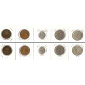 Lot:  SCHWEDEN 5x Münzen  2 - 50 Öre  [1946-1961]