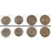 Lot:  IRLAND 4x Münzen  Florin + 1/2 Crown  [1955-1967]