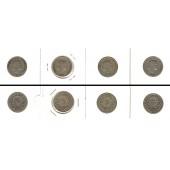 Lot:  SCHWEIZ 4x Münzen  5 Rappen  [1879-1899]