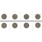 Lot:  SCHWEIZ 4x Münzen  10 Rappen  [1902-1914]