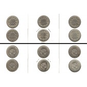 Lot:  SCHWEIZ 6x Münzen  10 Rappen  [1936-1967]
