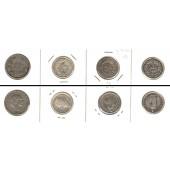 Lot:  SCHWEIZ 4x Münzen  20 Rappen + 1/2 Fr.  [1881-1920]