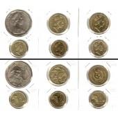 Lot:  AUSTRALIEN 6x Münzen  50 Cents 1 + 2 Dollars  [1970-1995]
