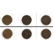 Lot:  CANADA / KANADA 3x Münzen  1 Cent  [1905-1907]