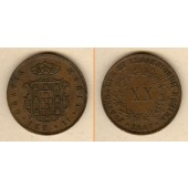 PORTUGAL 20 Reis 1847  ss+