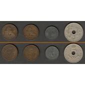 Lot:  BELGIEN 4x Münzen  2 5 25 Centimes  [1874-1915]