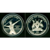 UGANDA 1000 Shillings 1999  Olympia Sydney  SILBER  f.PP