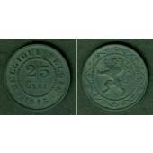 BELGIEN 25 Centimes 1915  vz+
