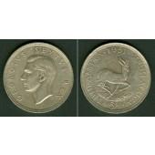 SÜDAFRIKA / SOUTH AFRICA 5 Shillings 1951 SILBER  ss-vz