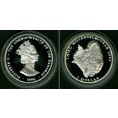 BAHAMAS 1 Dollar 1996 Millennium  SILBER  PP