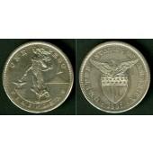 PHILIPPINEN / FILIPINAS (USA) 1 Peso 1907 S  SILBER  ss