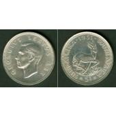 SÜDAFRIKA / SOUTH AFRICA 5 Shillings 1951 SILBER  vz