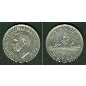 CANADA / KANADA 1 Dollar 1952  SILBER  ss-vz