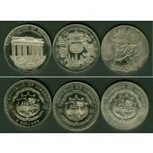 Lot:  LIBERIA 3x Gedenkmünzen 5 Dollars  ST  [2000-2001]
