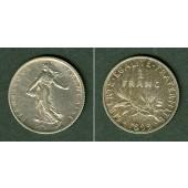 FRANKREICH 1 Franc 1899  ss+