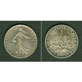 FRANKREICH 1 Franc 1909  ss