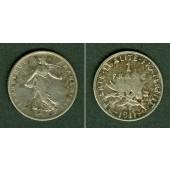 FRANKREICH 1 Franc 1911  ss+