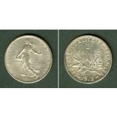 FRANKREICH 1 Franc 1912  vz