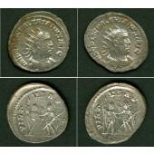 Lot: Caius Publius Licinius VALERIANUS I. 2x Antoninian STEMPELGLEICH!  ss+  [253-254]