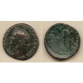 TITUS Flavius Vespasianus  As/Dupondius  ss  selten!  [80-81]