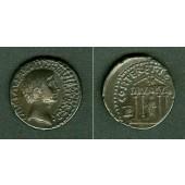 Caius Octavius AUGUSTUS / OCTAVIAN Denar  ss+  selten!  [36 v.Chr.]
