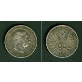 Österreich Ungarn Kaiserreich 2 KRONEN 1912  ss-vz
