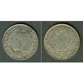 Österreich RDR 20 Kreuzer 1803 B (Ungarn) ss