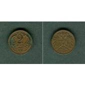 Österreich Kaiserreich 2 Heller 1905  vz  selten