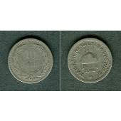 Österreich Ungarn Kaiserreich 10 Filler 1892  s-ss/ss