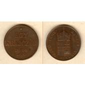 Österreich Ungarn Kaiserreich 1 Kreuzer / Egy Krajczar 1848  f.st
