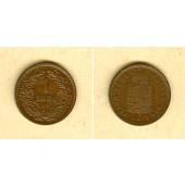 Österreich Ungarn Kaiserreich 1 Kreuzer 1888 KB  ss-vz