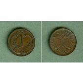 Österreich Kaiserreich 1 Heller 1898  vz  selten