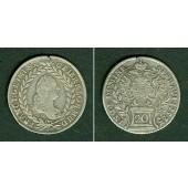 Österreich RDR 20 Kreuzer 1757 PR (Prag)  ss