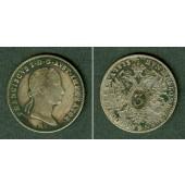 Österreich Kaiserreich 3 Kreuzer 1833 A  f.ss