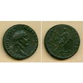 Marcus Ulpius TRAJANUS  Dupondius  ss+  [98-99]