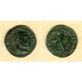Marcus Aurelius Valerius MAXIMIANUS (Herculius)  1/4 Follis  selten!  ss+  [305]