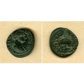 DOMITIA Longina  AE15 Bronze  Lydia  ss  selten!  [81-96]